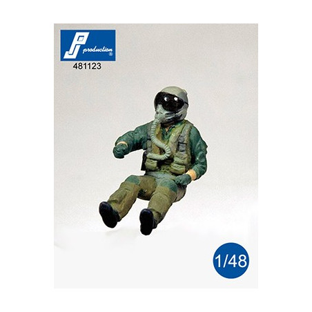 1//32 PJ PRODUCTION F-16 PILOT SEATED IN A//C