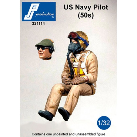 321114 - US Navy Pilot seated in a/c (50')