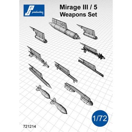 721214 - Set d'armement pour Mirage III/5