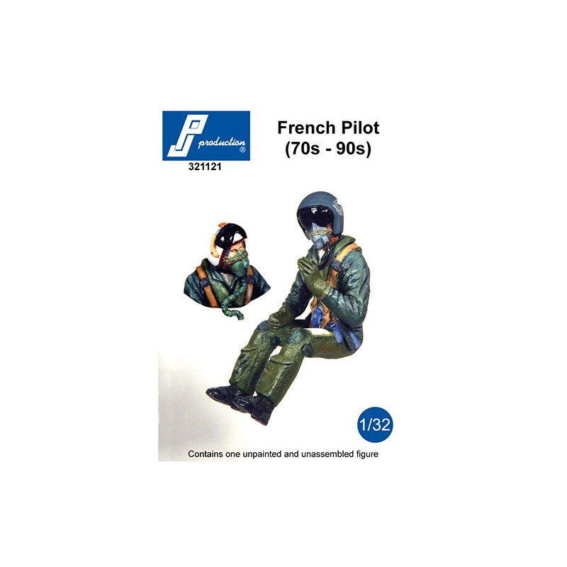 321121 - French Pilot seated in a/c (70s-90s)