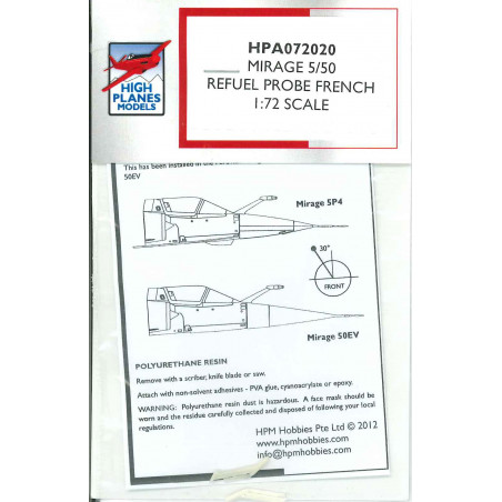 HPA72020 - Mirage 5/50 Refuel Probe French Type