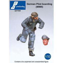 321104 - Pilote allemand montant dans le cockpit (2GM)