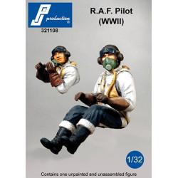 321108 -  RAF pilot seated in a/c (WW II)